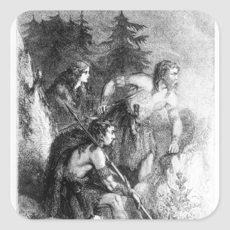 Caledonians, or Picts Square Sticker