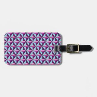 caledoscope three luggage tag