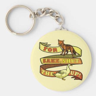 Calembour drôle d'animal de canard de Fox Porte-clé Rond