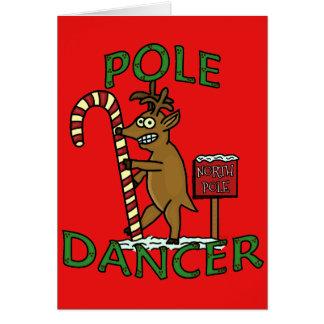 Calembour drôle de renne de Noël de danseur Cartes De Vœux