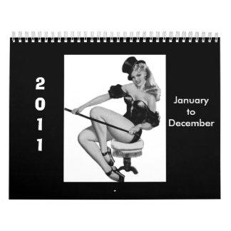 Calendar 1 Vintage Pin-up Girls 2011 Jan-Dec