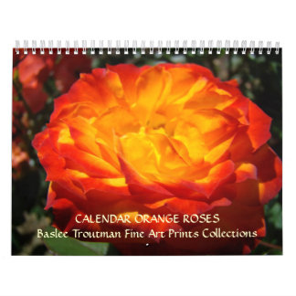 CALENDAR 2010 ORANGE Roses Calendar Rose Flowers