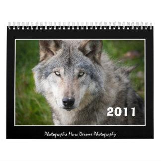 Calendar, 2011 wolf calendars