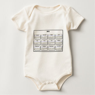 Calendar 2012 The MUSEUM Zazzle Gifts Baby Bodysuit