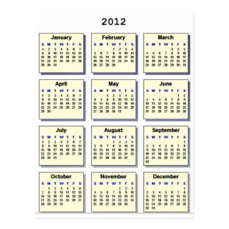 Calendar 2012 The MUSEUM Zazzle Gifts Postcard