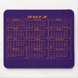 Calendar 2013 Purple Mouse Pad