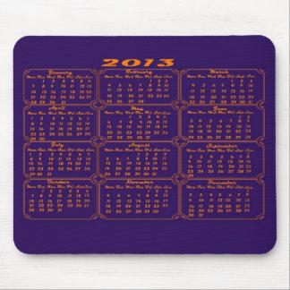 Calendar 2013 Purple Mouse Pad