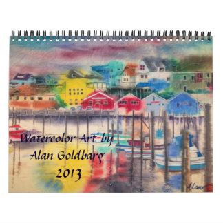 CALENDAR 2013- WATERCOLOR ART OF ALAN GOLDBARG