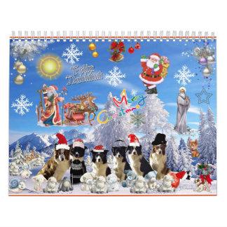 Calendar 2014 jolulodi Border collie