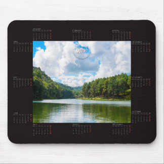 Calendar 2017 With Lake And Trees Photo Mousepad