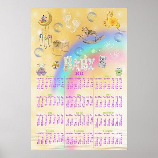 Calendar-Babies First Year Poster