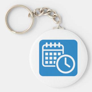 Calendar Basic Round Button Keychain