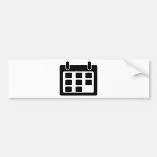 Calendar Bumper Sticker