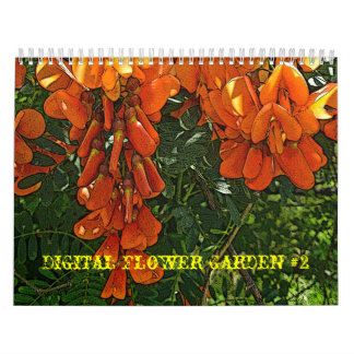 Calendar Digital Flower Garden #2