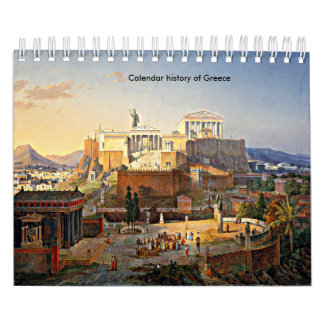calendar history of greece