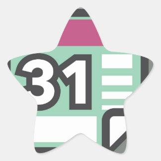 Calendar Icon Star Sticker