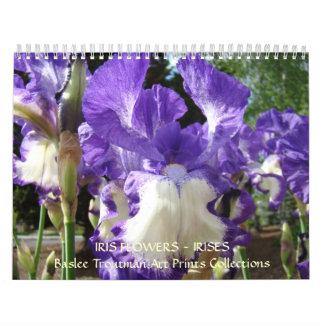 CALENDAR Irises Calendar Iris Flowers