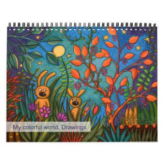 Calendar My colorful world 2016