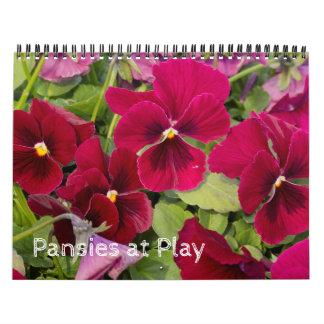 Calendar ~ Pansies at Play