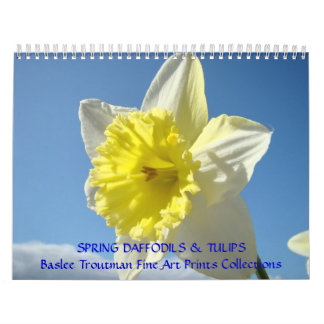 CALENDAR SPRING Calendars Daffodils Tulips Floral