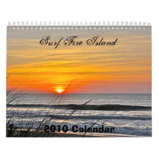 Calendar, Surf Fire Island Calendar