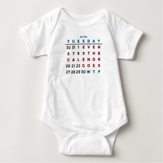 Calendar What The WTF Baby Bodysuit