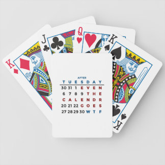Calendar What The WTF Bicycle Playing Cards