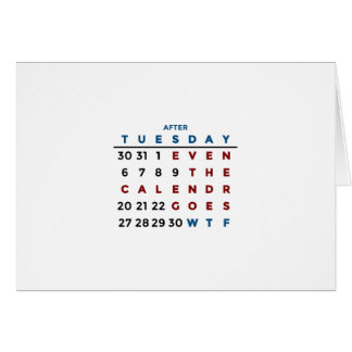 Calendar What The WTF Card