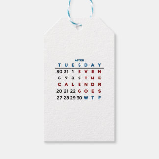 Calendar What The WTF Gift Tags