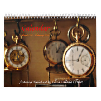 Calendar with Digital Art by tinamfisher