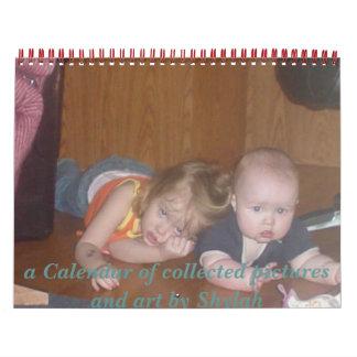 Calender full of family photos calendars