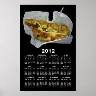 Calendrier 2012 de crêpe de banane [Roti Kluai Poster