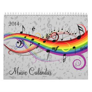 Calendrier 2014 de musique