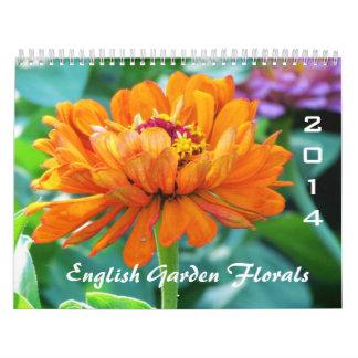 Calendrier 2014 floral de jardin anglais