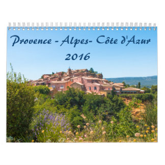 Calendrier 2016 Provence-Alpes-Côte d'Azur Calendars