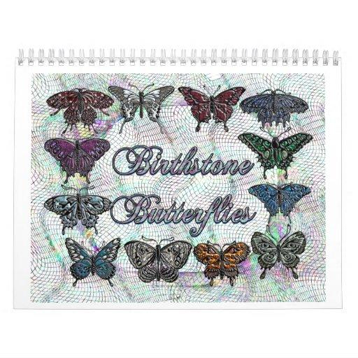 Calendrier de papillon de pierre porte-bonheur