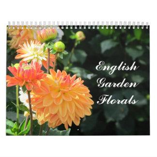 Calendrier floral de jardin anglais