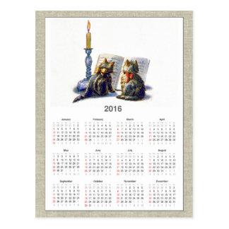 Calendrier victorien vintage II des chats 2016 Cartes Postales