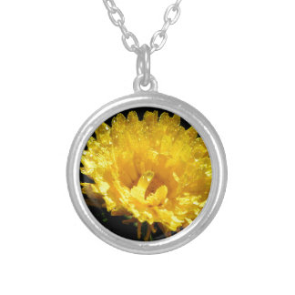 Calendula aka Pot Marigold Silver Plated Necklace