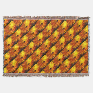 Calendula Camouflage Throw Blanket