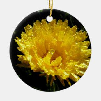 Calendula Gold Ceramic Ornament