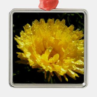 Calendula Gold Metal Ornament