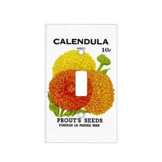Calendula Vintage Seed Packet Light Switch Cover
