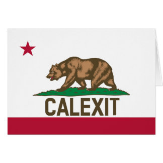 CALEXIT California Bear Flag Card
