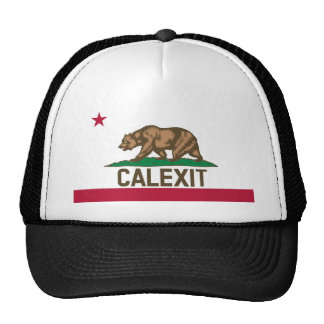 CALEXIT California Bear Flag Trucker Hat