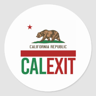 Calexit - California Exit Flag - -  Classic Round Sticker