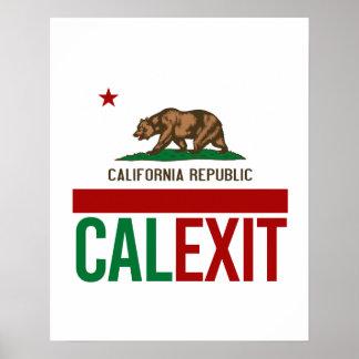 Calexit - California Exit Flag - -  Poster