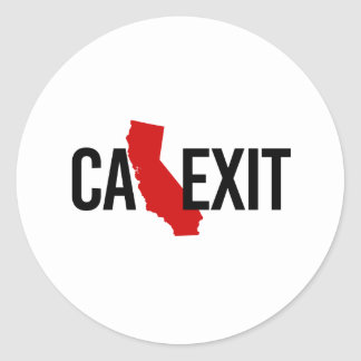 Calexit - California Exit - red - -  Classic Round Sticker