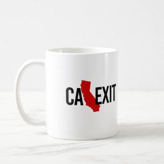 Calexit - California Exit - red - -  Coffee Mug