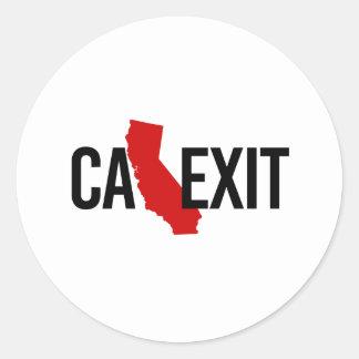 Calexit - California Exit - red - -  Round Sticker